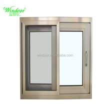 Aluminum Sliding Window,Small Sliding Windows,Blind Inside Double Glass Window