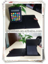 A4 leather portfolio case for ipad mini