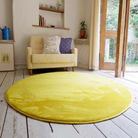 Washable carpet tiles yellow shag rug