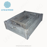 Wooden crates and trays, vegetable crates