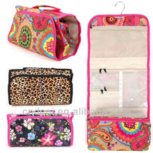 Makeup Cosmetic Bag Case Jewelry Travel All Over Print Hand Roll Up Organizer
