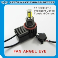 Factory Price angel eye for BMW E90 E60 E87 C ree Chips Led Angel Eye Led Marker H8 40W with Fan, with power packs, no decoders