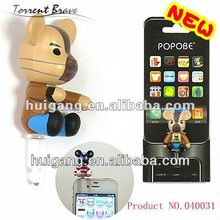 dust plug for iphone ear phone cap cell phone strap
