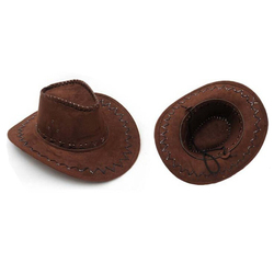 Brown Leather Cowboy Hat Made In China