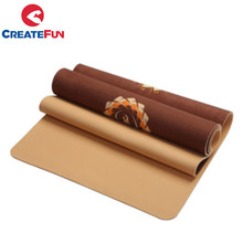 CreateFun Eco Custom Design Anti-Slip Mat TPE Yoga Camurça