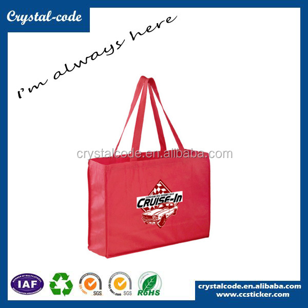 Reusable vinyl tote shopping bag logo shopping bag biodegradable