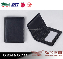Mens Leather Bifold Credit/ID Card Holder Slim Coin Purse Money Clip Wallet