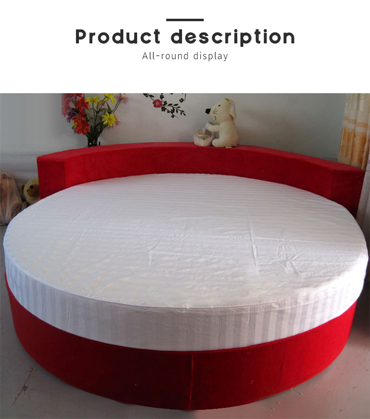 3cm stripe customized hotel mattress cover protector for round bed - Jozy Mattress | Jozy.net