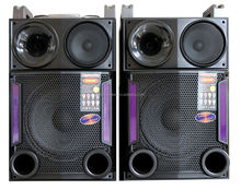 temeisheng active stage speaker 2.0 channel multimedia speaker with bt function USB SD play fm radio
