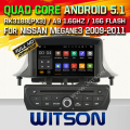 WITSON Android 5.1AUTO CAR DVD GPS For RENAULT Megane III WITH CHIPSET 1080P 16G ROM WIFI 3G INTERNET DVR SUPPORT