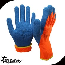 SRSAFETY latex coated rubber insulating gloves with high quality