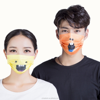 3 ply custom printed medical disposable funny dental face mask with earloop