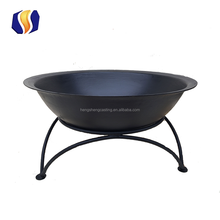 hot sale antique outdoor wood burning cast iron fire pit with stand