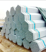 hot dipped rigid galvanized steel pipe in stock made in china