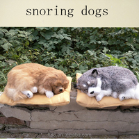 soft toy plush sleeping purring breathing snoring dogs