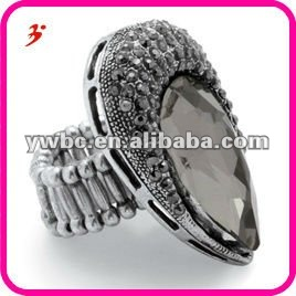 alloy crystal ring settings without stones jewelry(R100487)