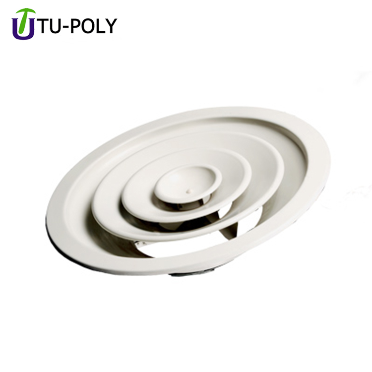 Hvac Ventilation System Round Air Grill Ceiling Air Conditioner Grille