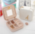 SP001 Korea Creative Travel Portable Jewelry Box Stud Earrings Jewelry Storage Box Leather Small Jewelry Bag Wholesale