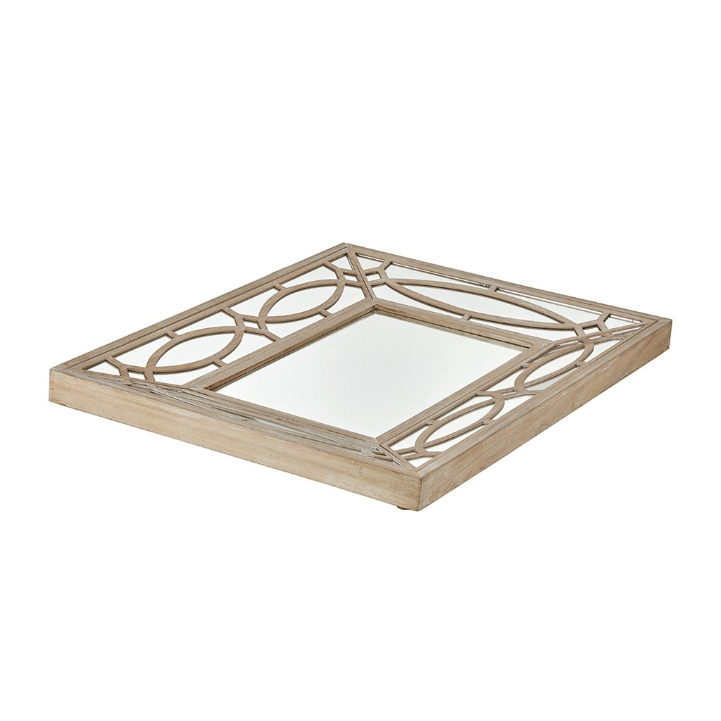 Beautiful Rectangle Wooden Frame Decorative Mirror