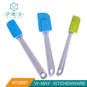 VIT0037 3-piece Silicone Spatula Set Baking tool set with PS Handle bakery spatula baking accessories baking kit