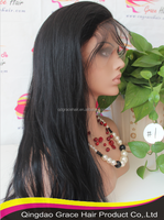 26 inch color #1 invisible part wig remy human hair full lace wig