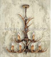 Creative double antler chandeliers high-grade bars retro lights antler chandeliers