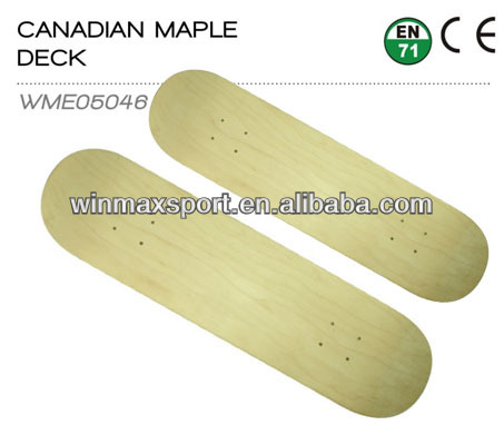 7 plies Canadian Maple blank bamboo skateboard decks(Pro Design)