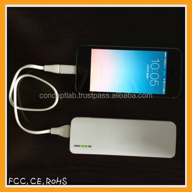 high quality smart phone power bank 5000mah