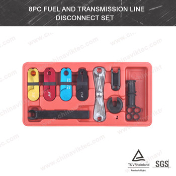 8Pcs Fuel and Transmission Line Disconnect Tool Set Oil Cooler line Disconnect(VT01066)
