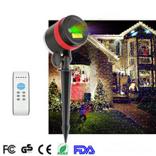 Outdoor Indoor Holiday decoration lighting laser Red and Green Christmas light show projector