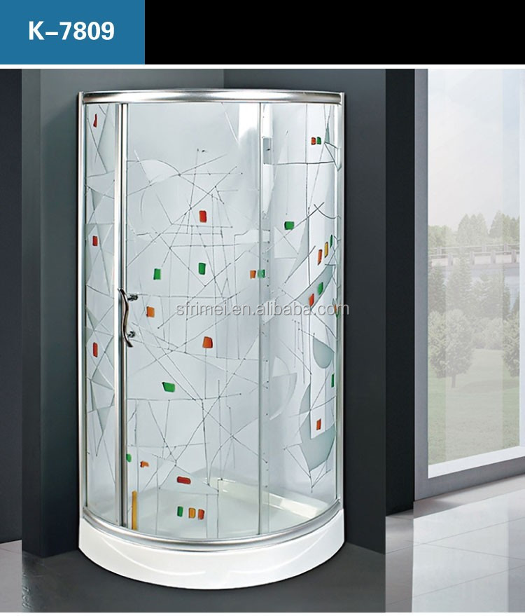 Corner Wall Connected Small Luxury Poland Shower Enclosure Unit