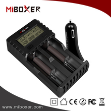 Miboxer C2-3000 2 Slots USB Charger with LCD and Smart Car Charger for Ni-MH / Li-ion Battery