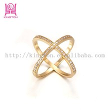 X style 2015 newest stainless steel zircon rings for women