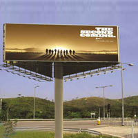 Outdoor steel structure three side advertising led billboards display