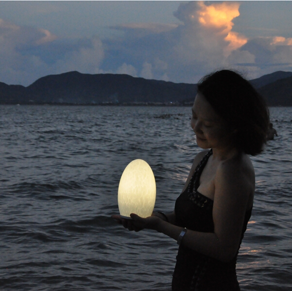 classical european style led egg shape lamp outdoor 3000MA 1.5W
