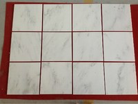 China natural ecofriendly decorative suet white marble flooring tiles