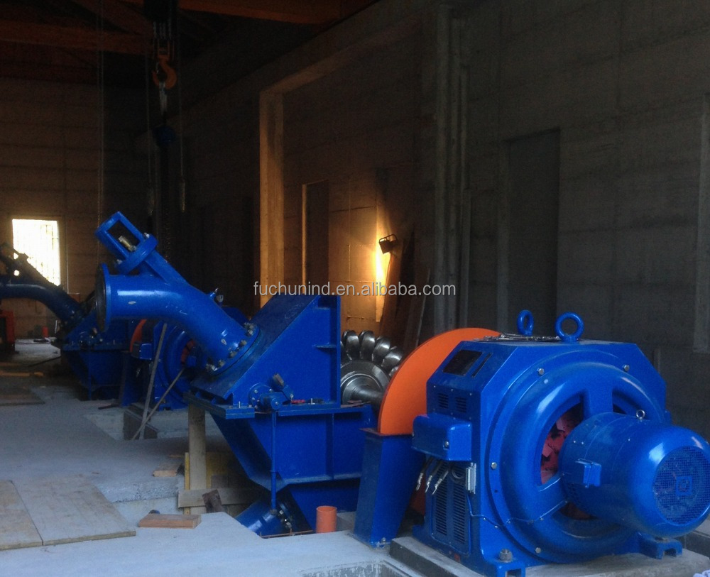 250kW Single Nozzle Small Pelton Turbine / Hydro Electric Generators