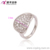 13224 Xuping wholesale plain style women jewelry fashion rhodium color finger ring