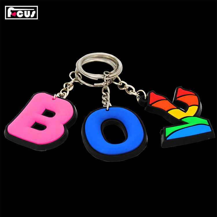New products customized attractive style 3d soft pvc keychain key chain on sale