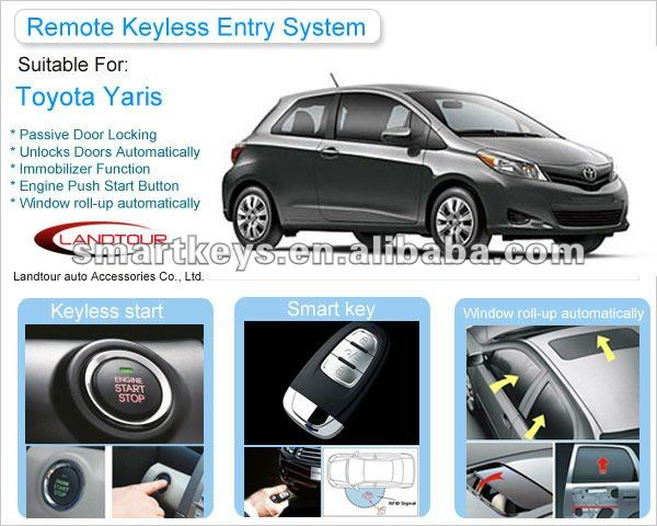 Auto Smart Start Keyless Entry System Central locking System for Toyota-Yaris