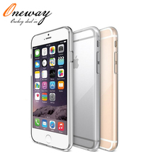 For iPhone 6 Case Funda Crystal Clear Transparent TPU Soft Phone Case Back Cover for iPhone 6 plus