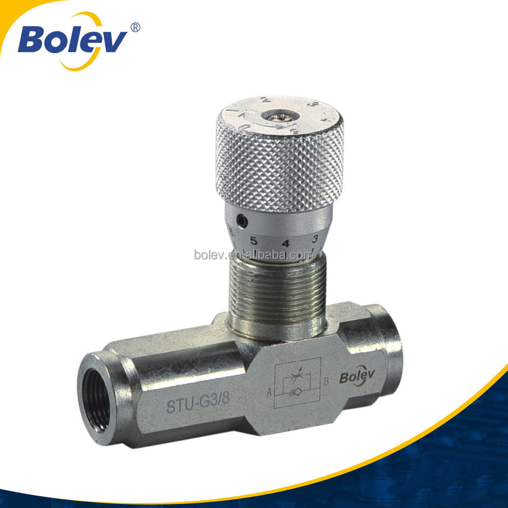 400bar STU FLOW CONTROL VALVE 3/8 inch BBSP or NPT for MARINE ect