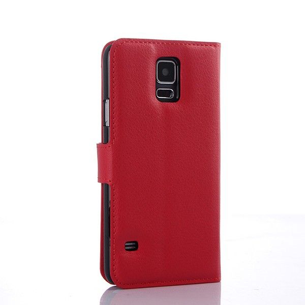 S5004 High Quality Card Slots PU Leather Flip Case Cover for Samsung Galaxy S5 i9600
