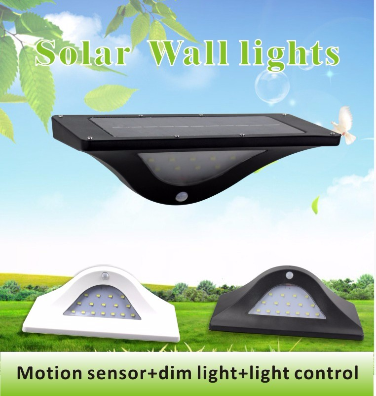best seller 550 lux motion sensor strong and dim light solar wall lamp