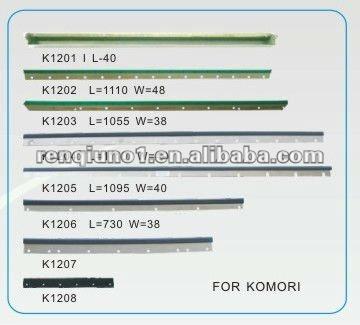 wash up blade for printing spare parts, for komori spare parts, spare parts for offset printing machine