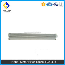 stainless steel wire mesh sintered pleated filter cylinder for water treatment