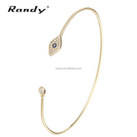 Gold Plated Jewelry Thin Chain Bangles
