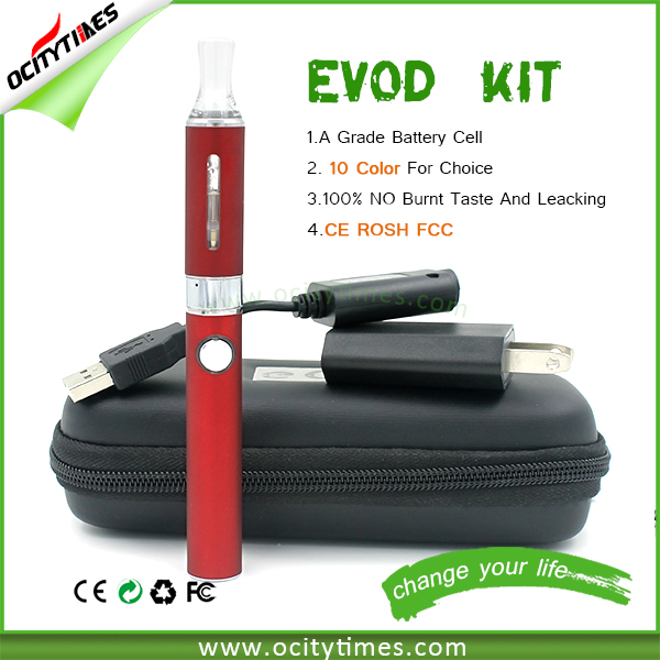 Hot seller ego twist evod starter kit mt3 zipper case pack evod mt3 1100mah kit with wall charger