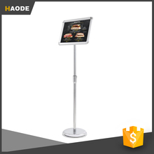 "Vertical/horizontal View Adjustable Pedestal Sign Holder Stand w/ Telescoping Post Easy Open Snap Frame for 8.5x11"" Letter Size"
