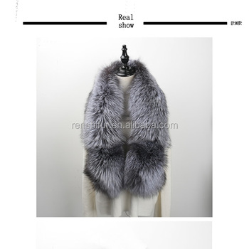 Factory Direct Sale Natural Fox Fur Scarf